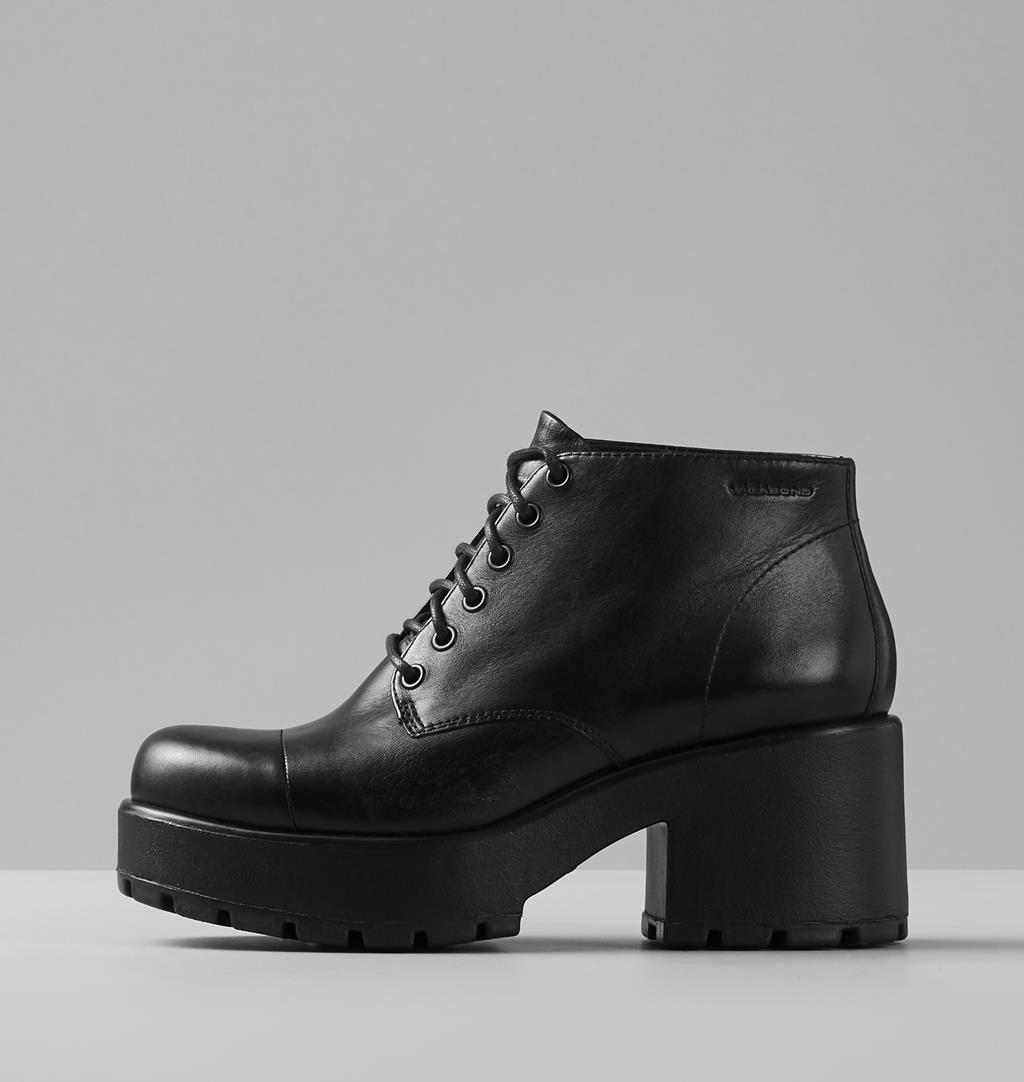Dioon Leather Boots - Black - Vagabond