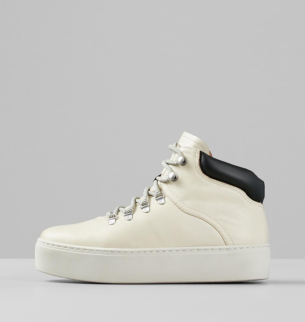 Jessie Leather Boots - White - Vagabond