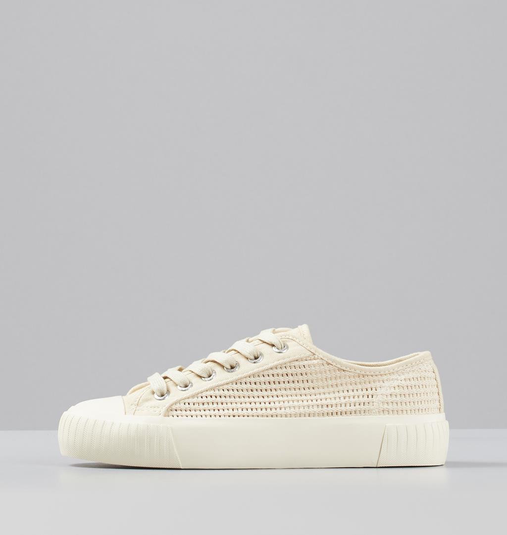 Ashley W Textile Sneakers White