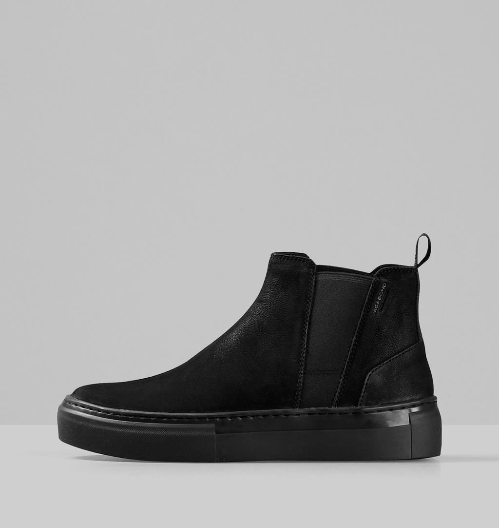 Zoe platform Nubuck Sneakers - Black