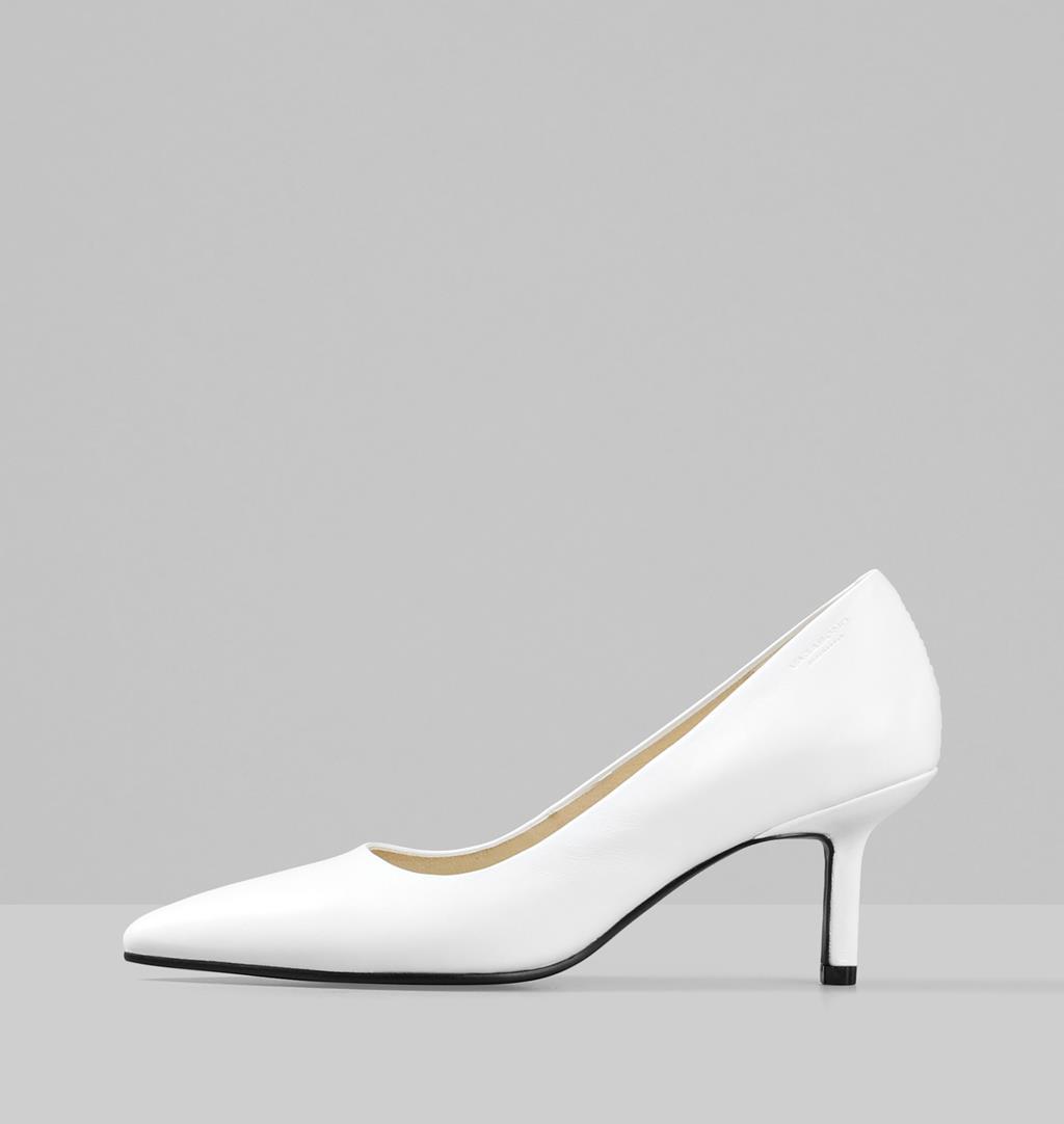 Pauline Leather Pumps - White - Vagabond