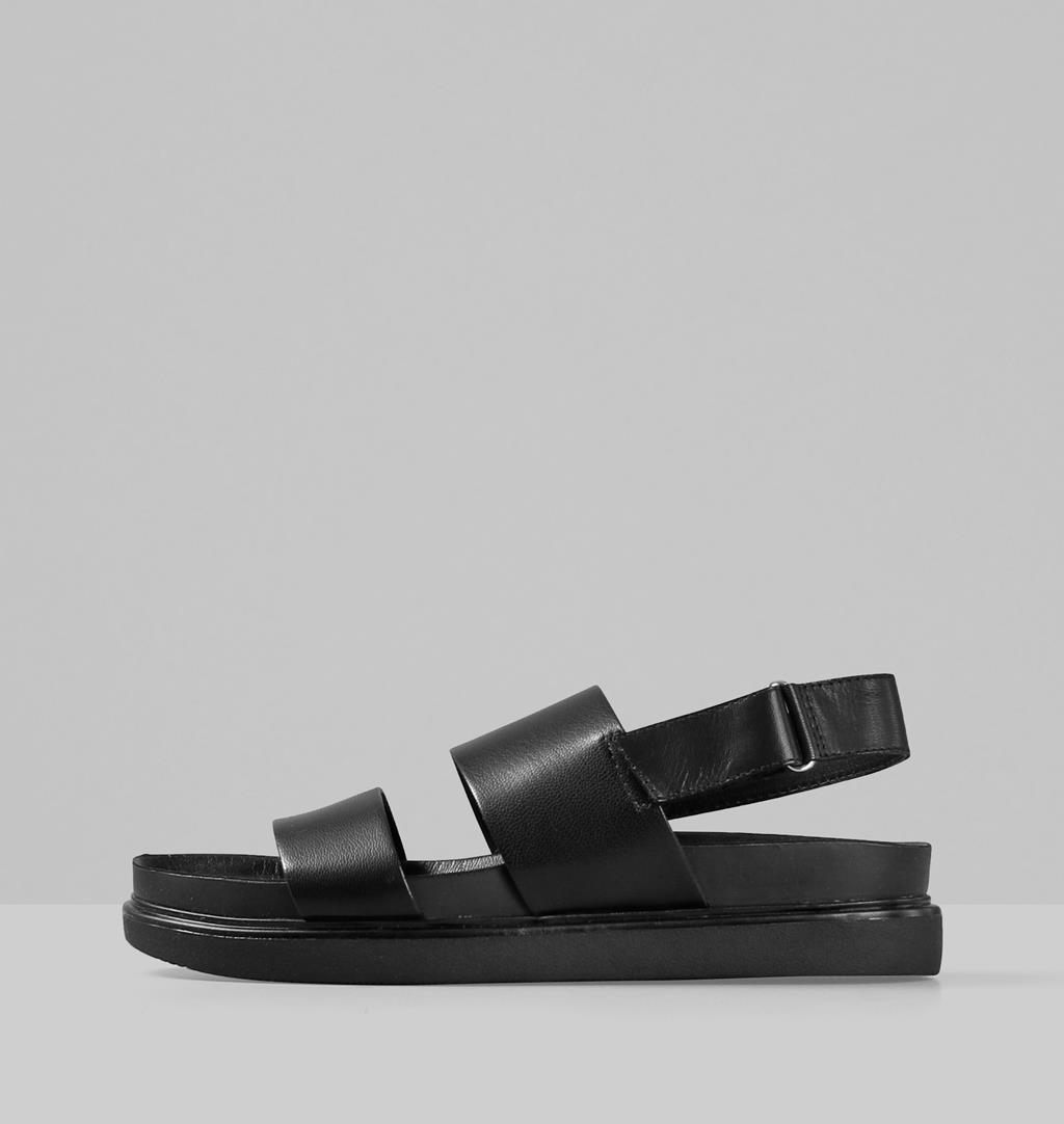 Erin Leather Sandals - Black - Vagabond