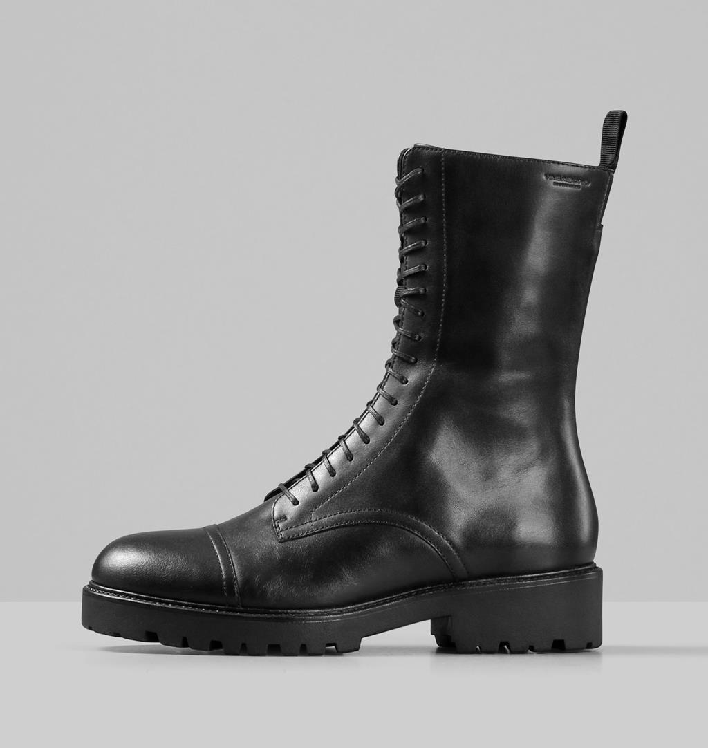 Kenova Leather Boots - Black - Vagabond