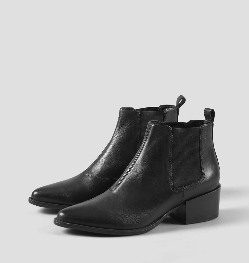 vagabond grace nubuck heeled lace up boots, Sort VAGABOND