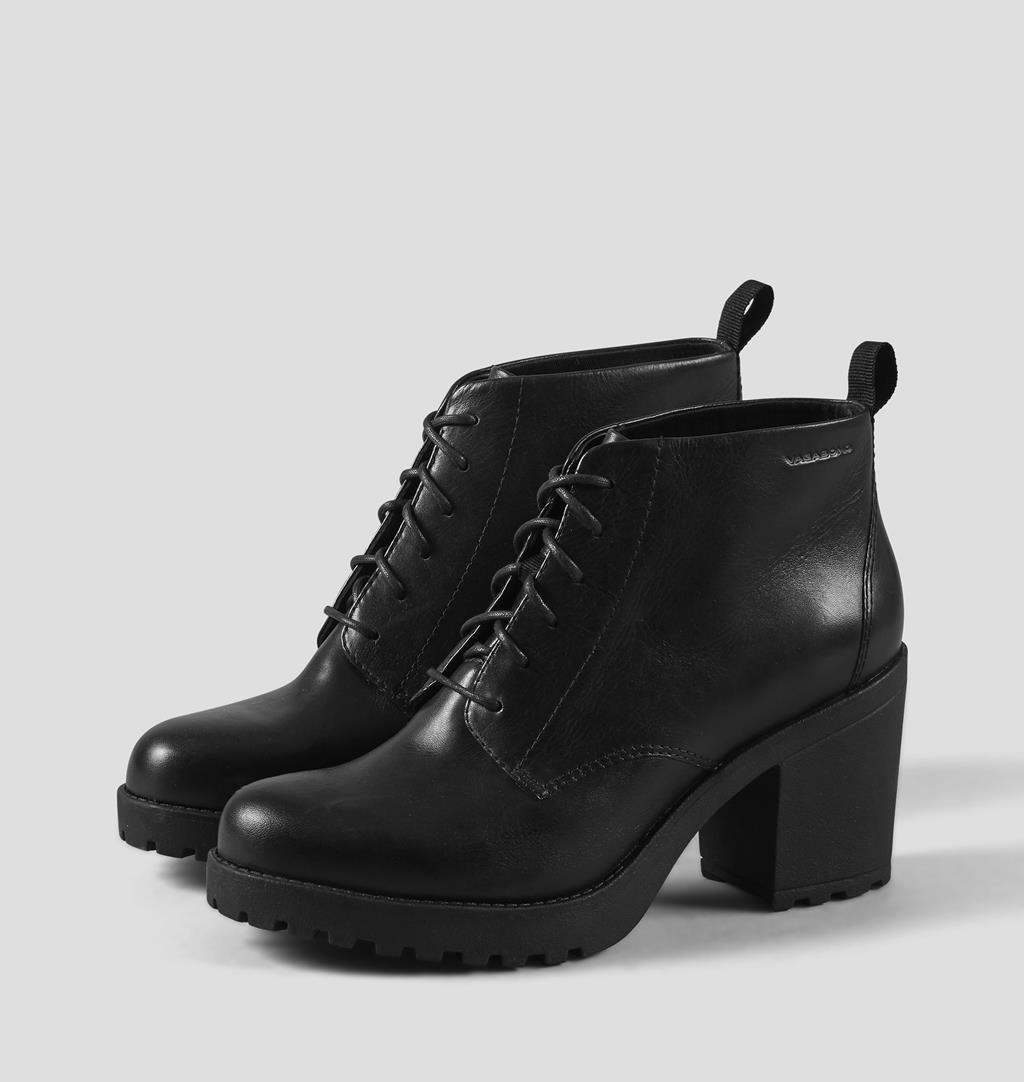 Grace Leather Boots - Black - Vagabond