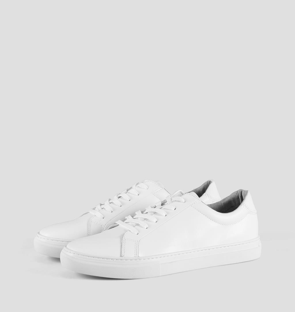 Paul Leather Sneakers - White - Vagabond