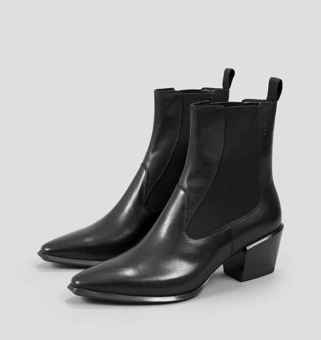 Betsy Leather Boots - Black - Vagabond