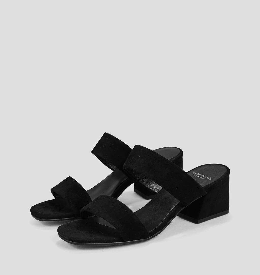Elena Suede Sandals - Black - Vagabond