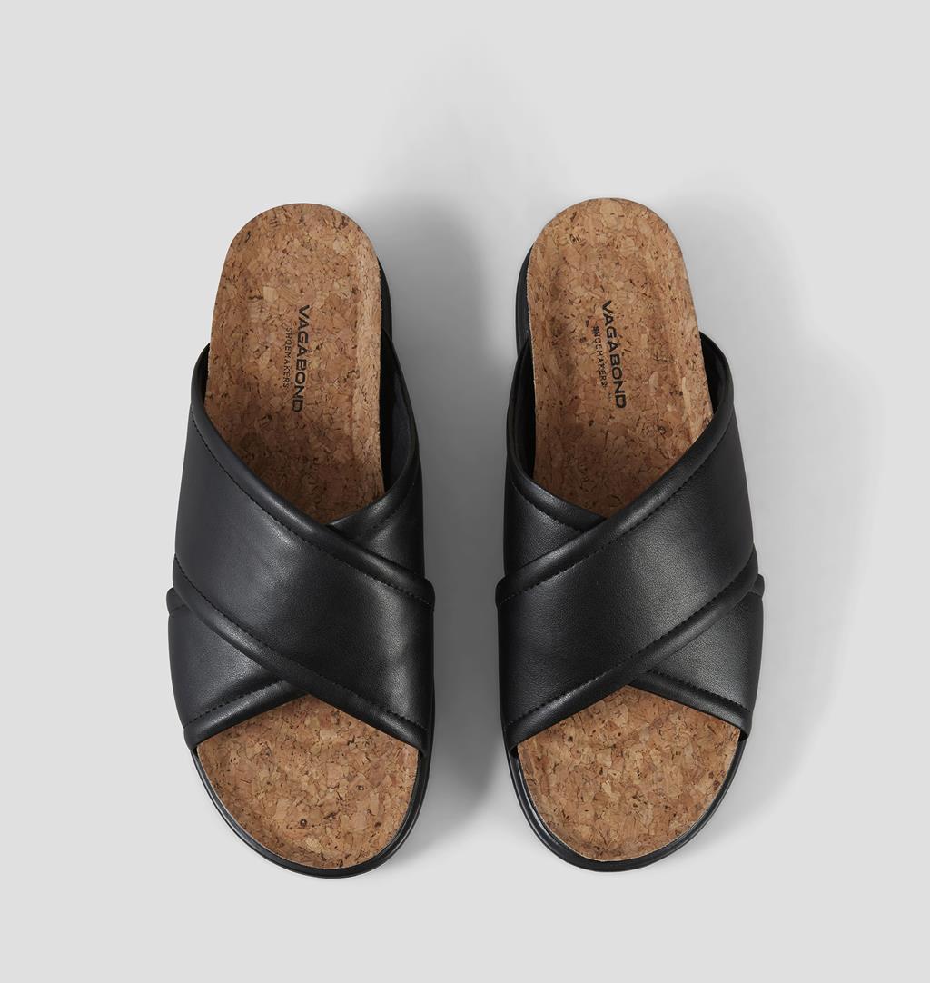 Erin Non leather Sandals - Black - Vagabond