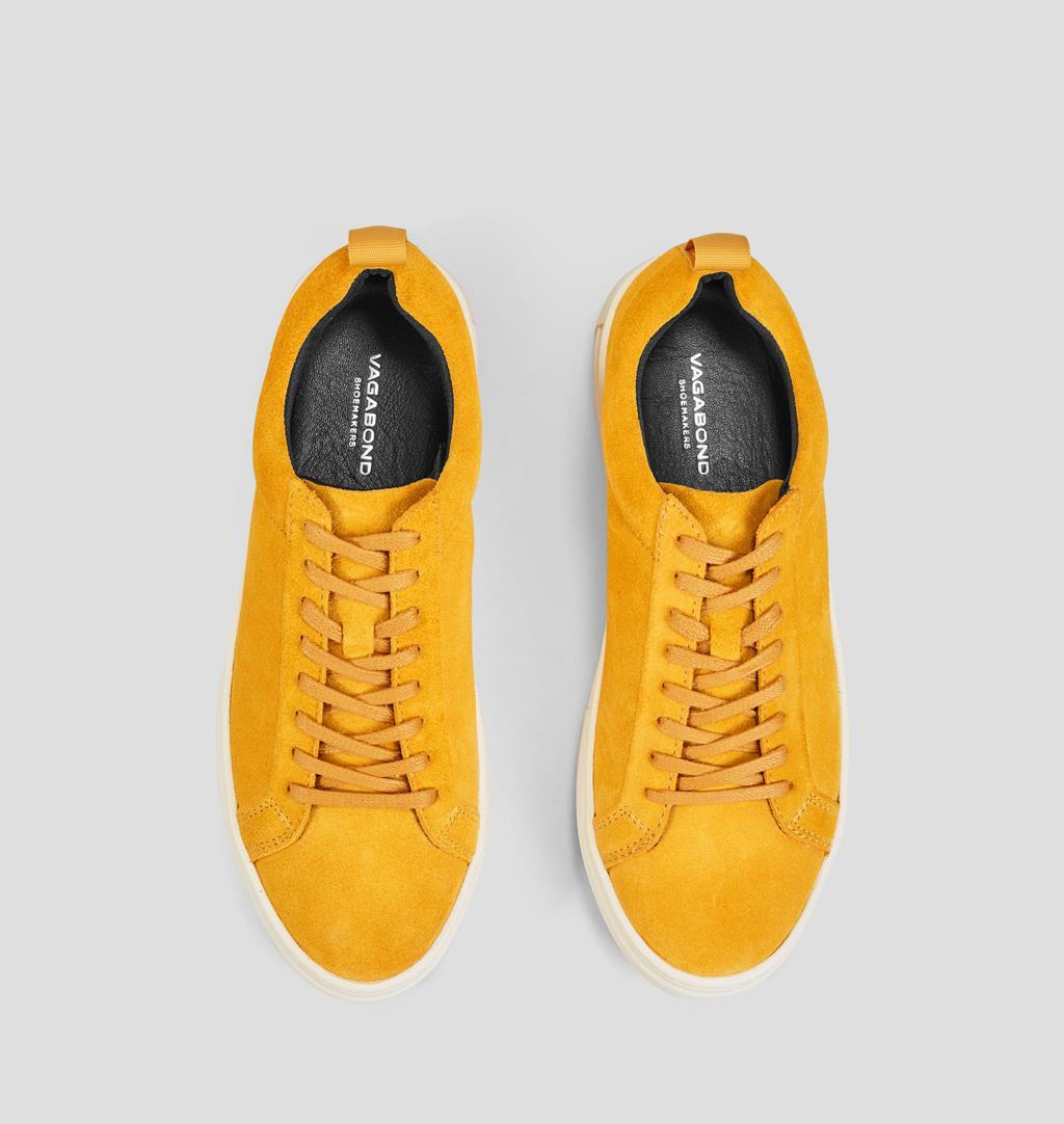 Zoe platform Suede Shoes Yellow Vagabond