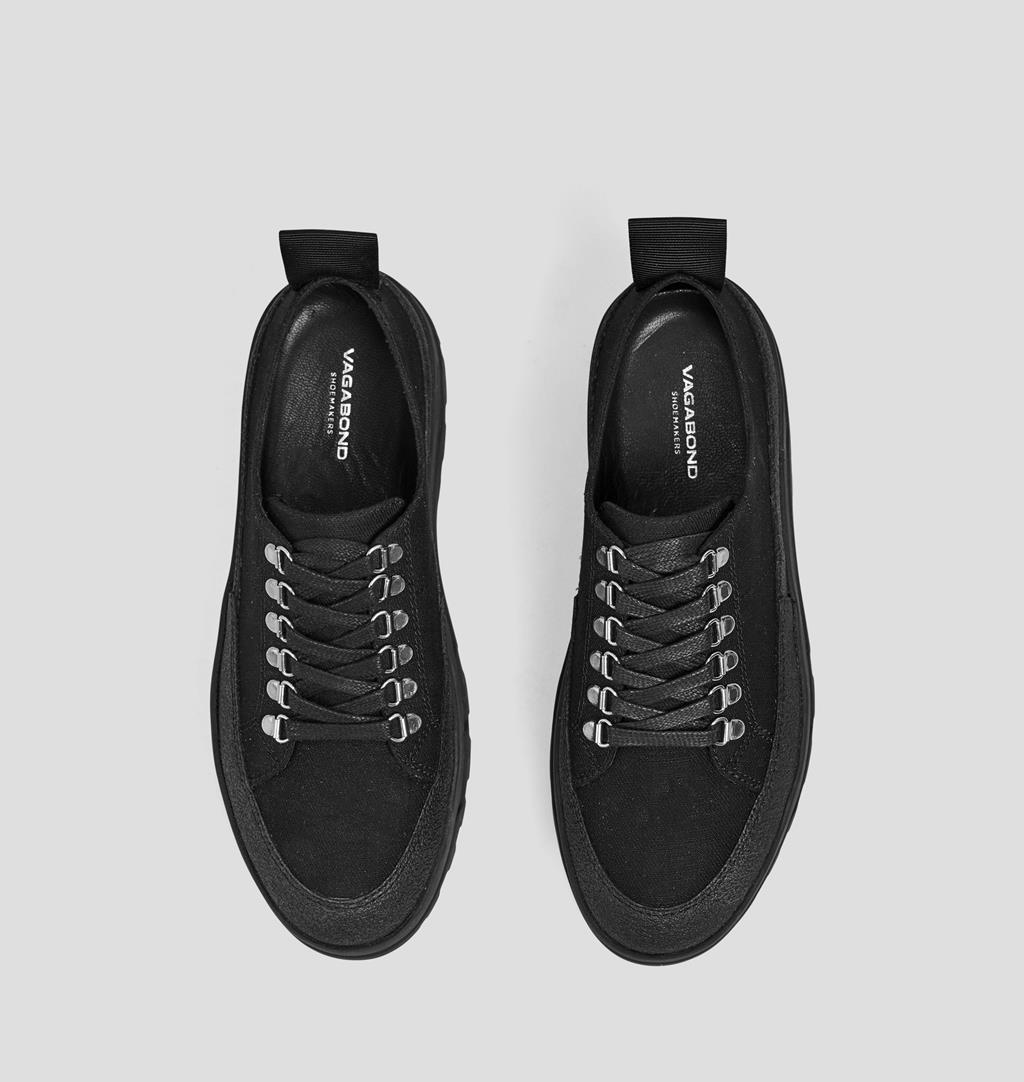 Milo w Textile Shoes - Black - Vagabond