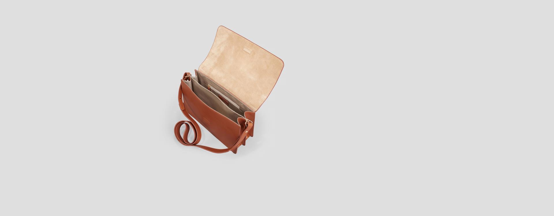 Virginia Leather Bag Brown Vagabond