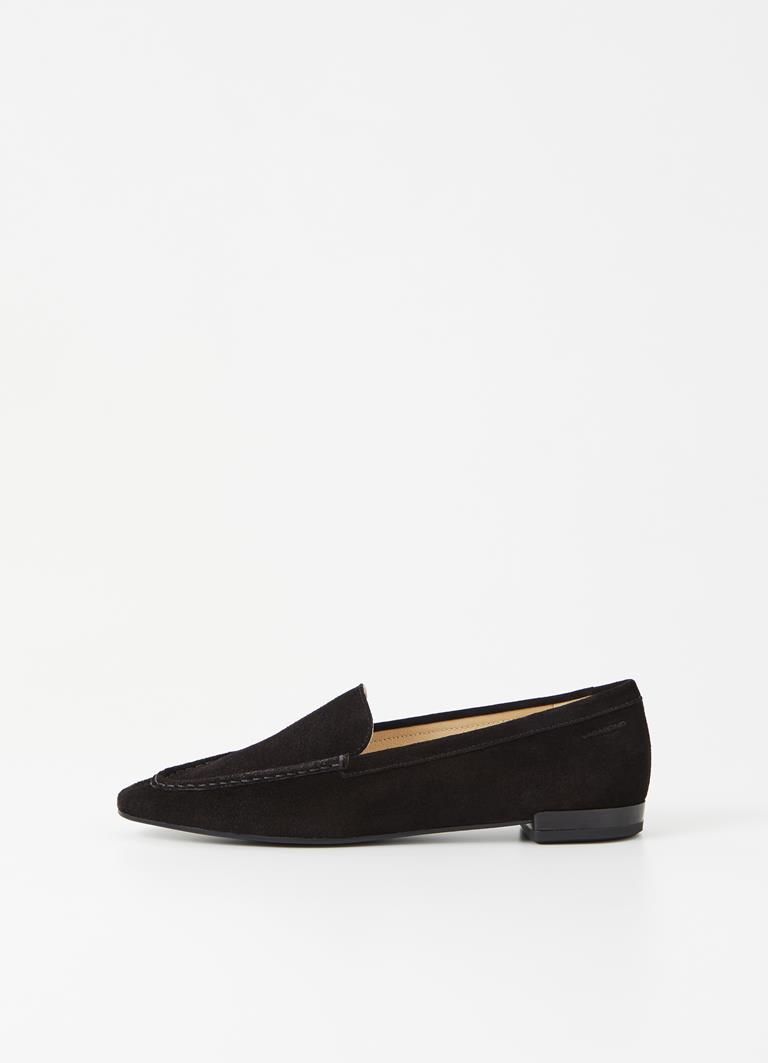 Cleo Black Cow Suede Loafer
