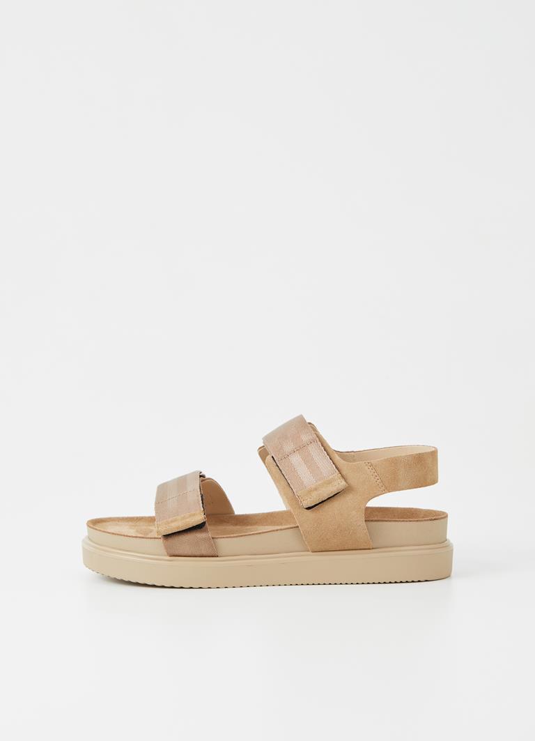 Seth Warm Sand Nylon Strap Sandals