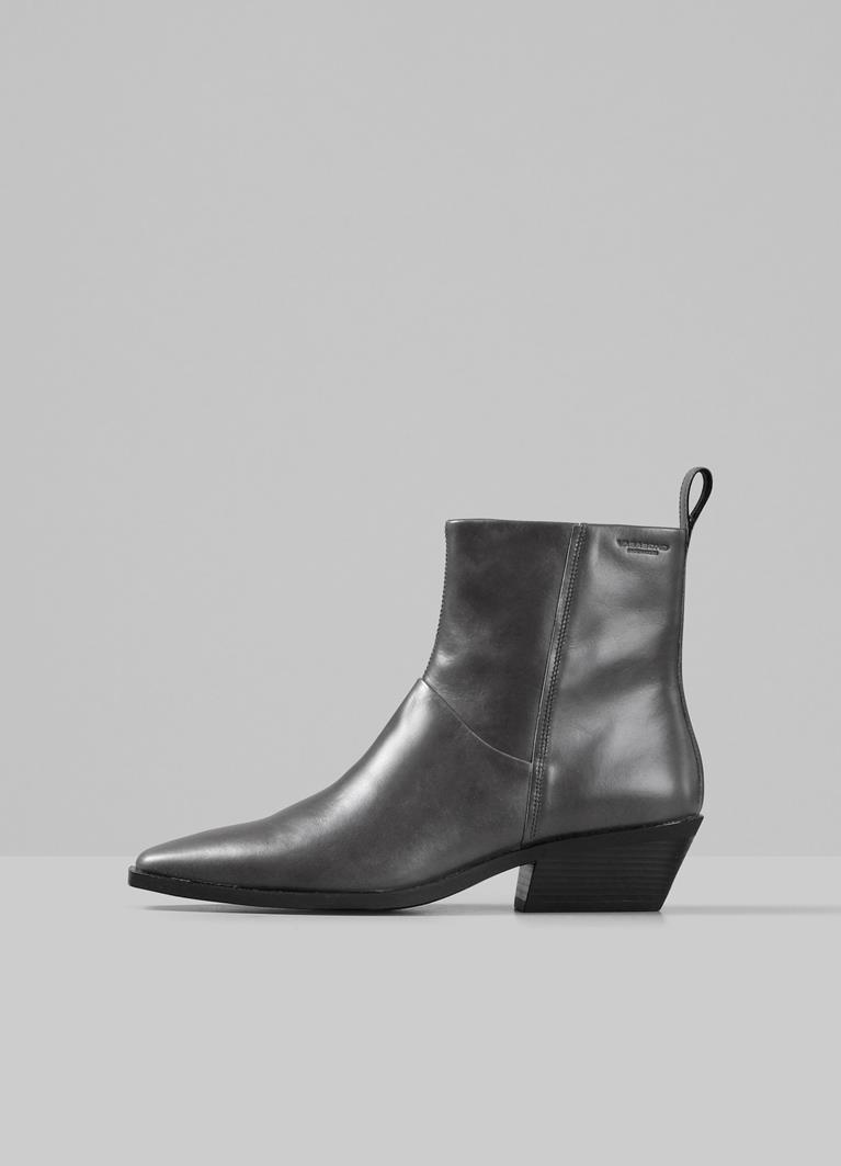 Ally Grey Cow Leather Boots