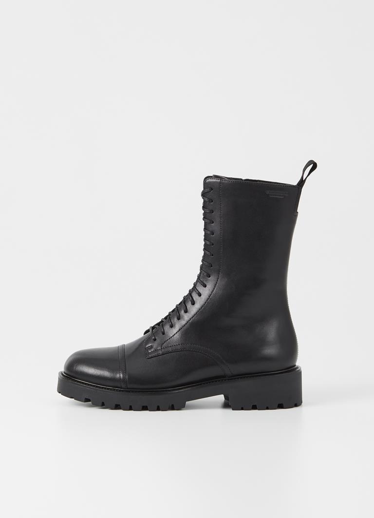 Kenova Black Cow Leather Boots