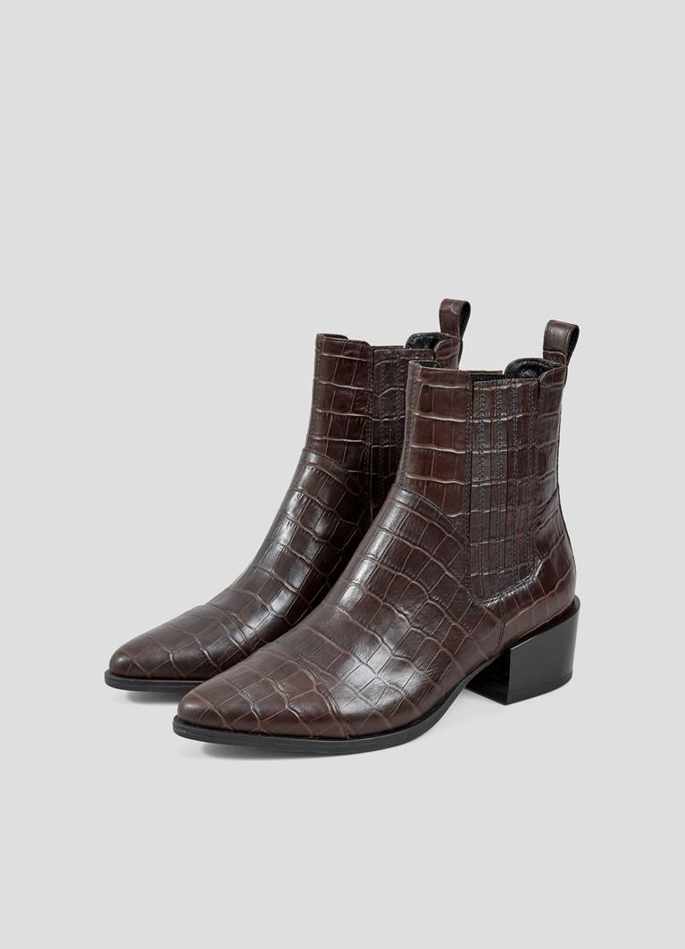 Marja Brown Cow Leather Boots