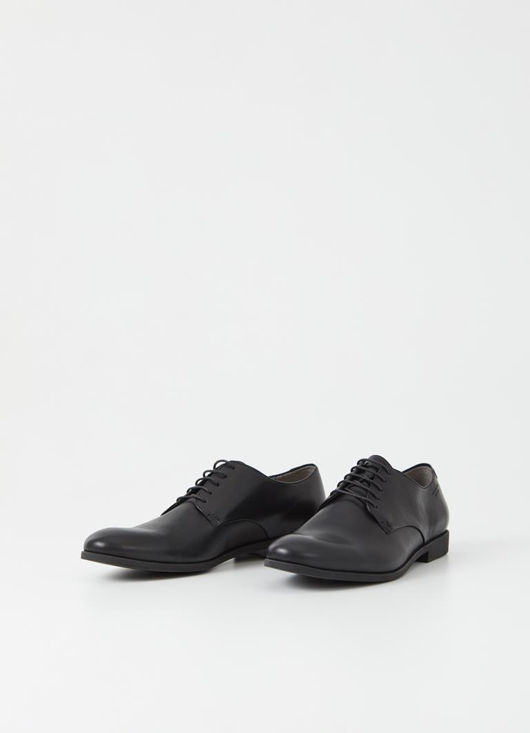 Linhope Black Cow Leather Shoes