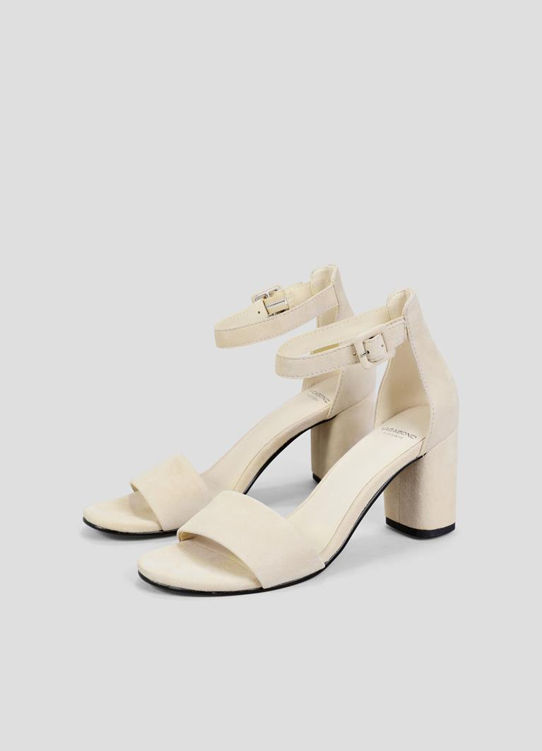Penny Off White Goat Suede Sandals