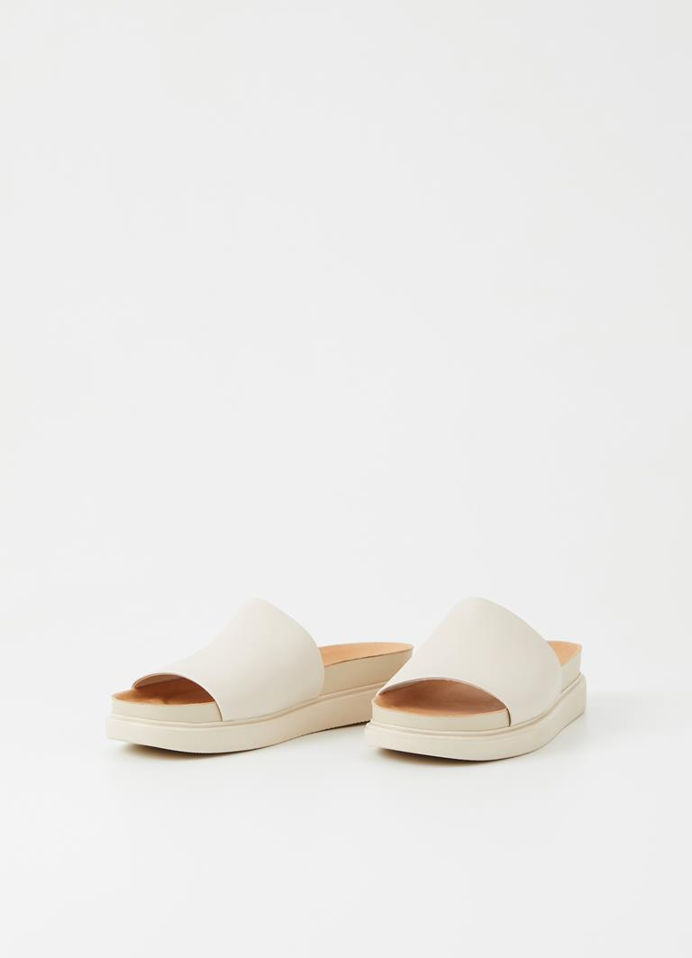 Erin Off White Cow Leather Sandals