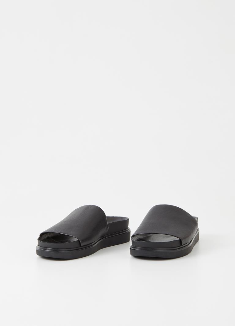 Erin Black Sheep Leather Sandals