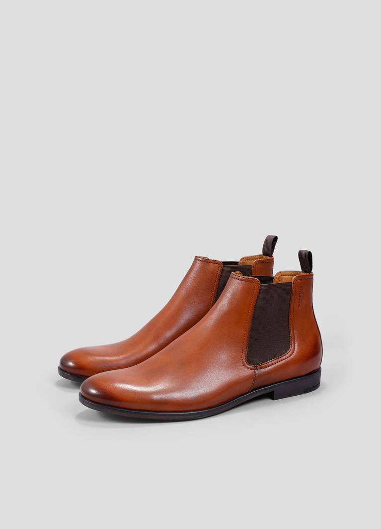 Linhope Cognac Cow Leather Boots