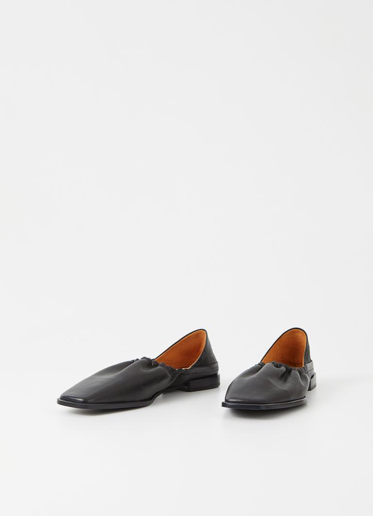 Gına Black Cow Leather Shoes