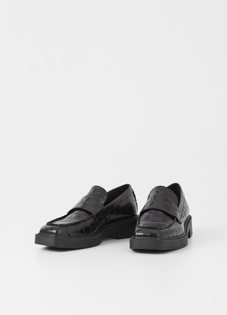 Jillian Black Cow Leather Loafer