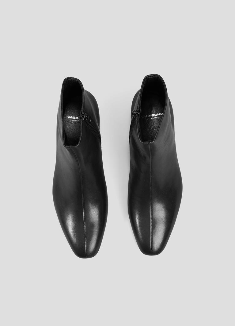Joyce Black Cow Leather Boots
