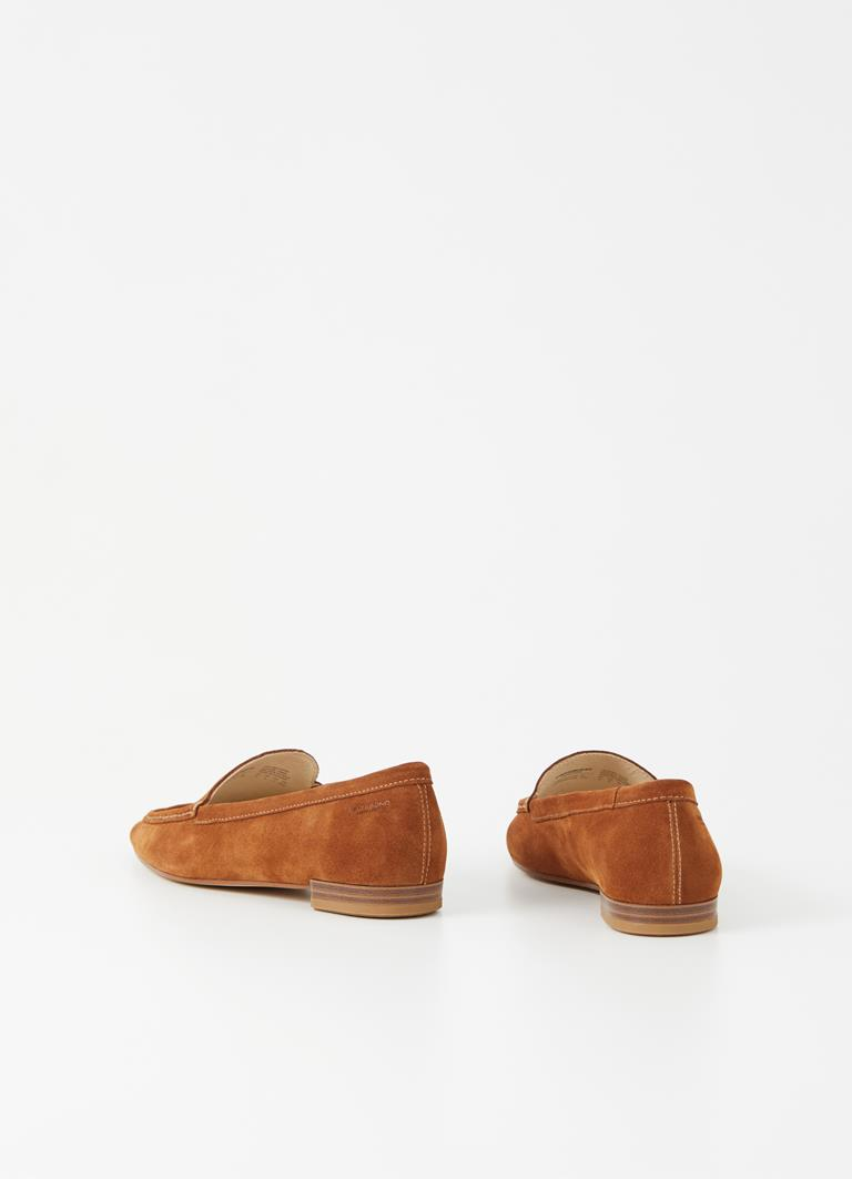 Cleo Caramel Cow Suede Loafer