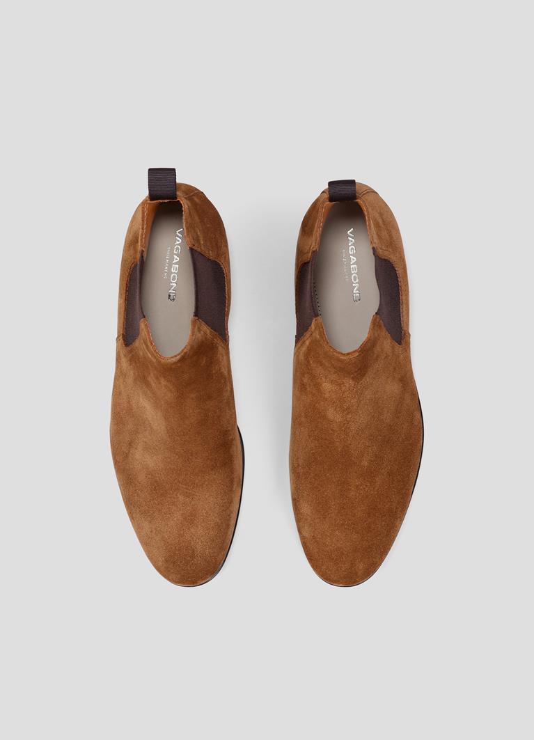 Linhope Cognac Cow Suede Boots