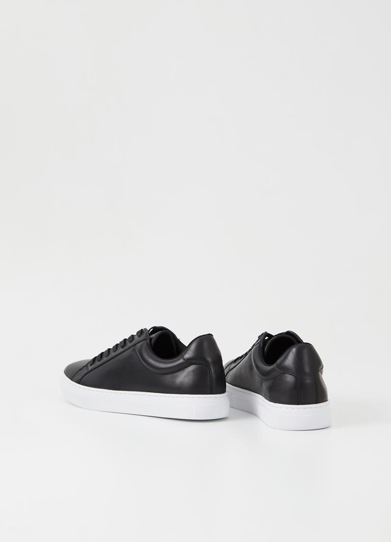 Paul Black Cow Leather Sneakers