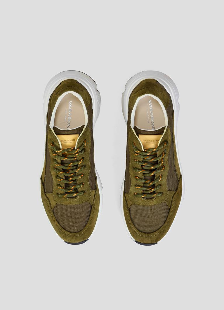 Quincy Olive Cow Suede Sneakers