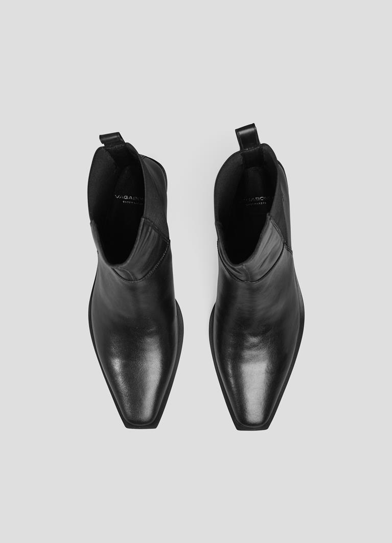 Ally Black Cow Leather Boots
