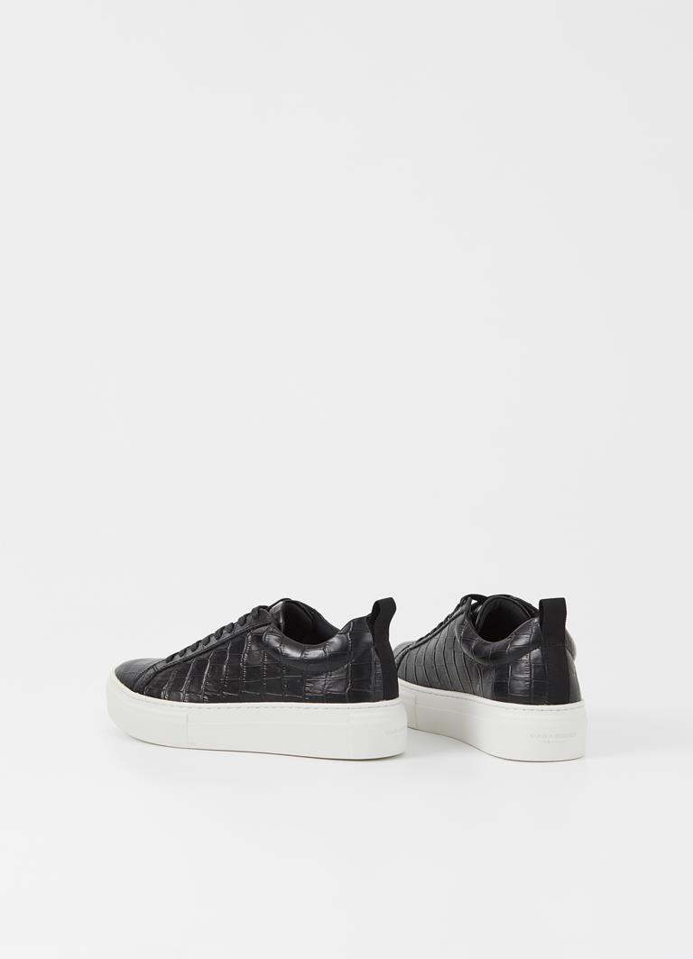 Zoe platform Black Cow Leather Sneakers
