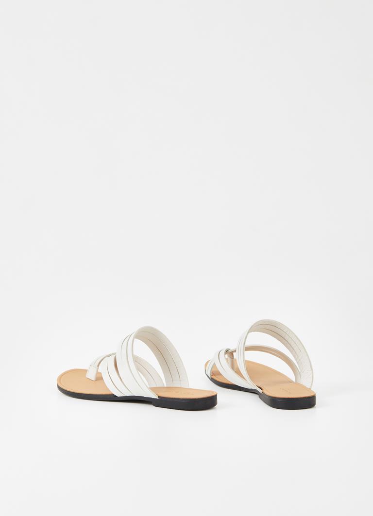 Tia White Goat Leather Sandals