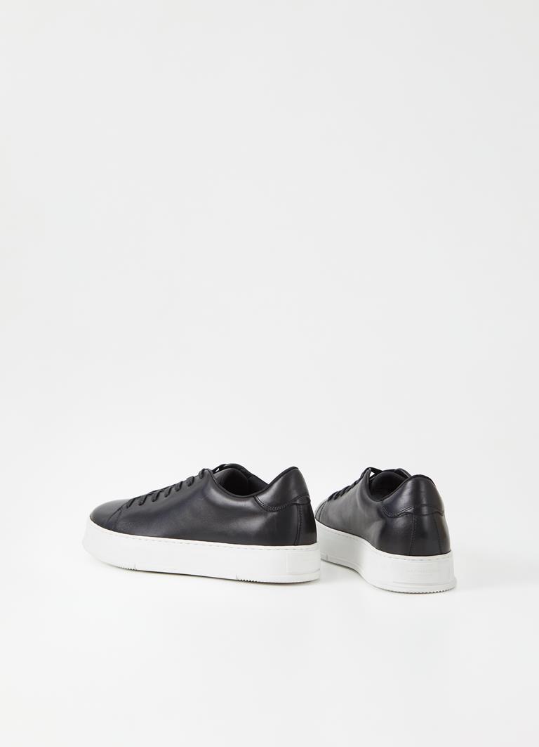 John Black Cow Leather Sneakers