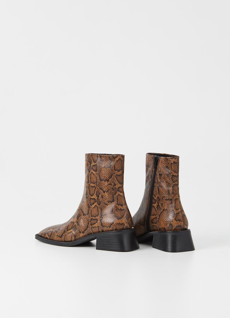 Blanca Harvest/Black Goat Leather Boots