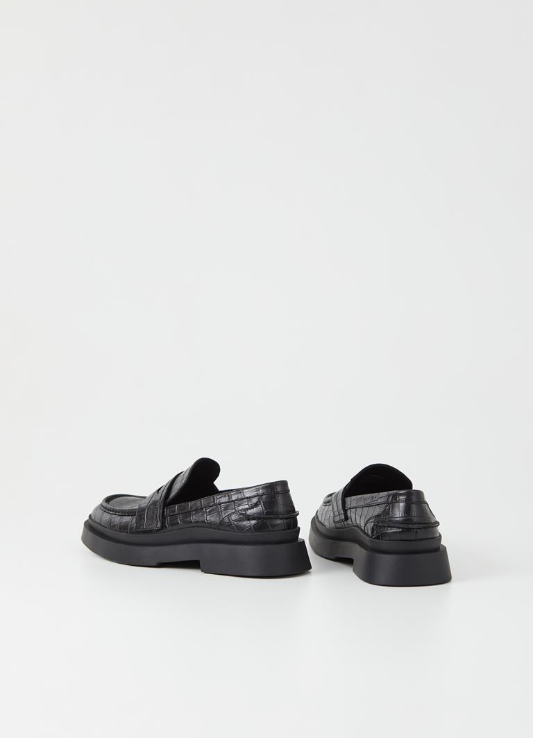 Mike Black Cow Leather Loafer
