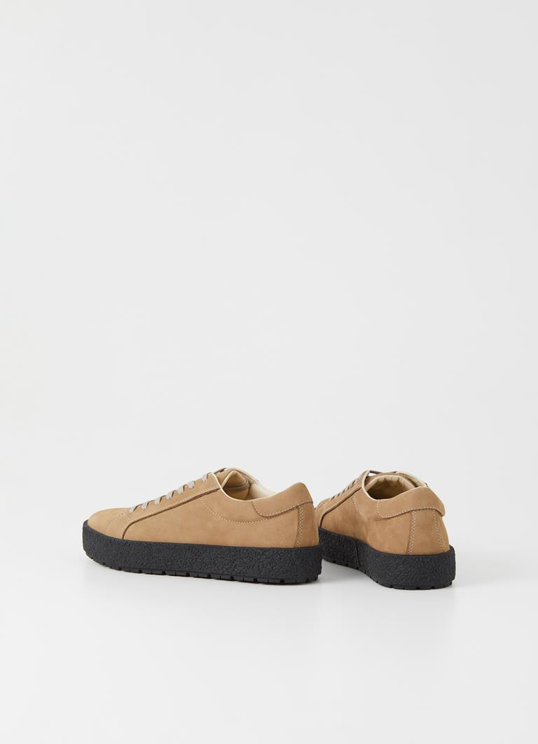 Fred Warm Sand Cow Leather Sneakers