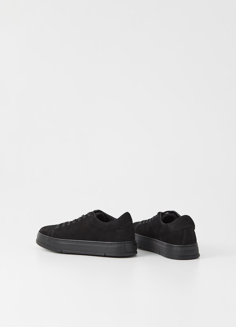 John Black/Black Cow Leather Sneakers