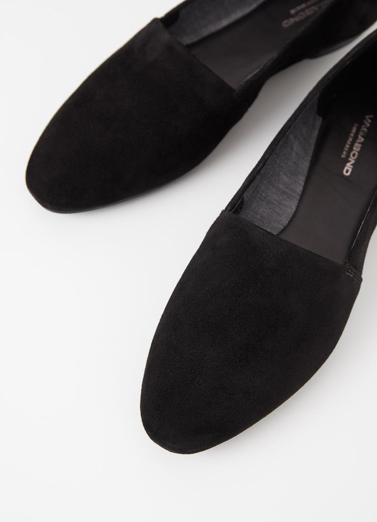 Sandy Black Goat Suede Shoes