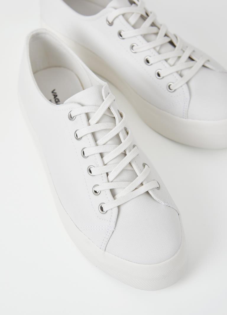 Peggy White Textile Sneakers