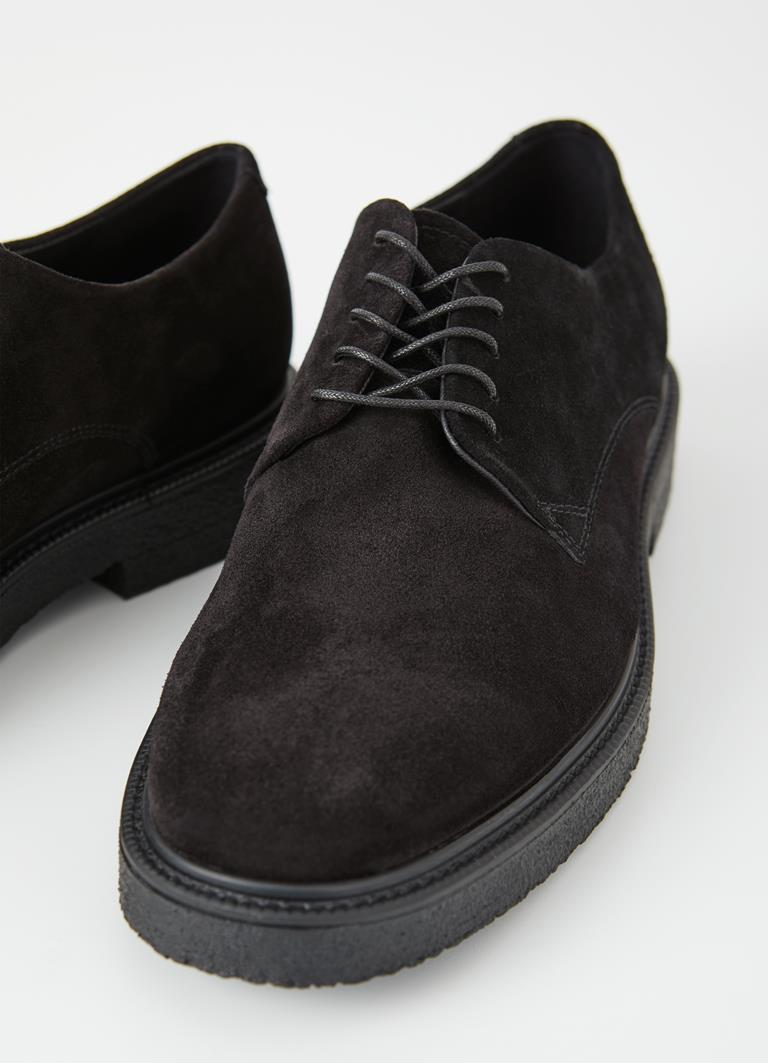 Gary Black Cow Suede Shoes