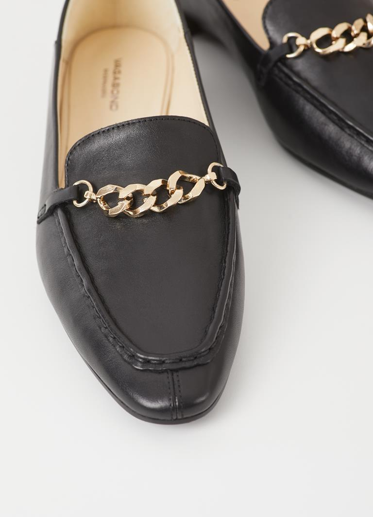 Cleo Black Cow Leather Loafer