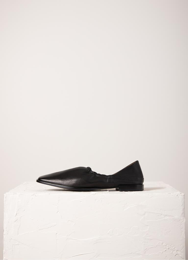 Gina Black Cow Leather Shoes