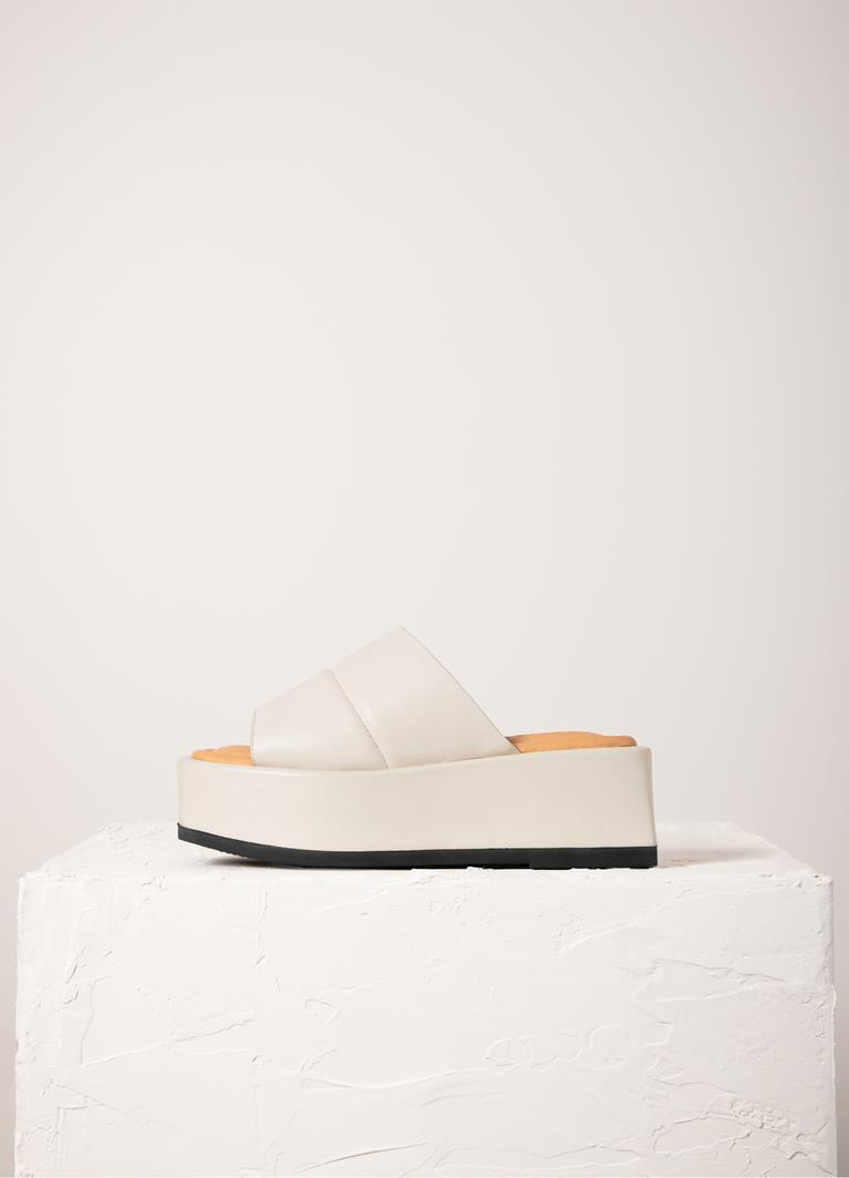 Juno Off White Cow Leather Sandals