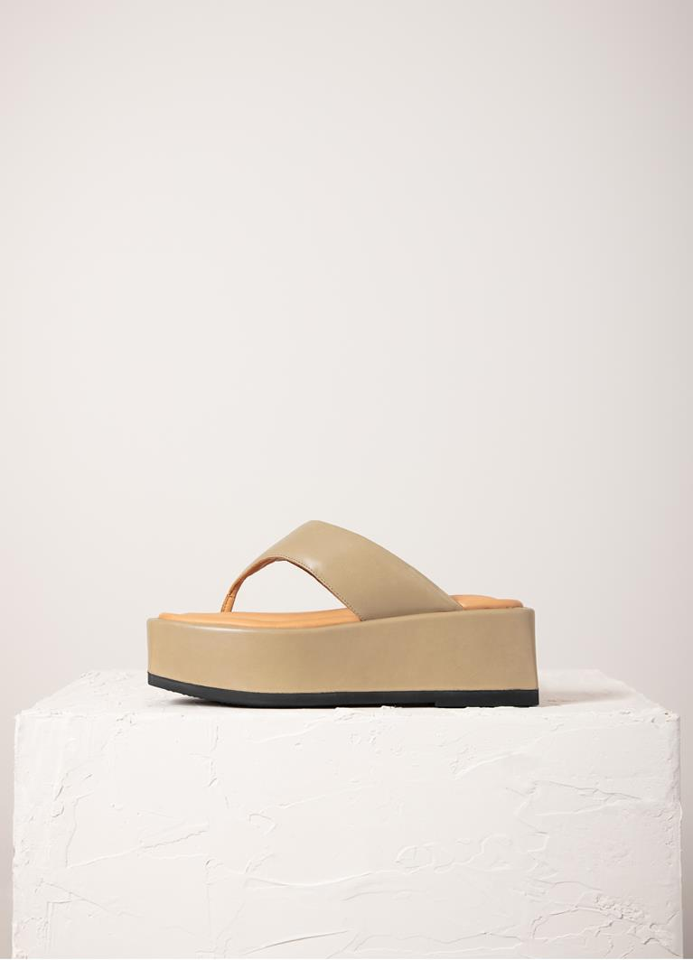 Juno Sesame Cow Leather Sandals