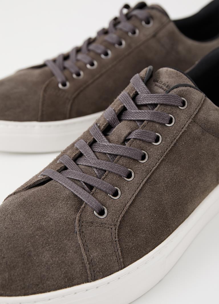 Paul Dk Grey Cow Suede Sneakers