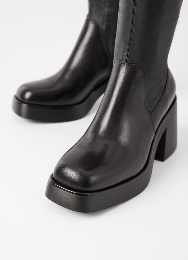 Brooke Black Synthetic Boots